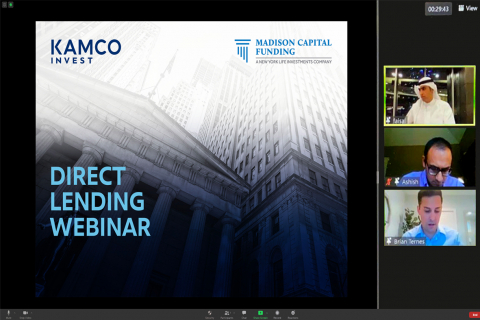 Screenshot from the webinar